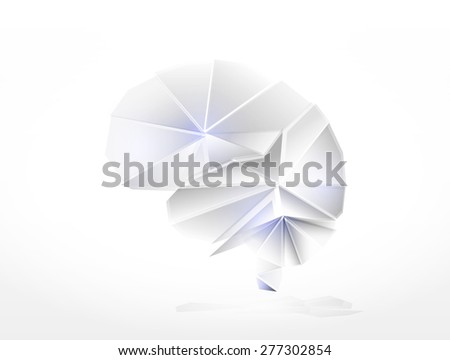 Human brain the creative concept made of glass elements  - stock photo