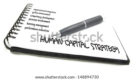 Human capital business diagram management strategy concept chart