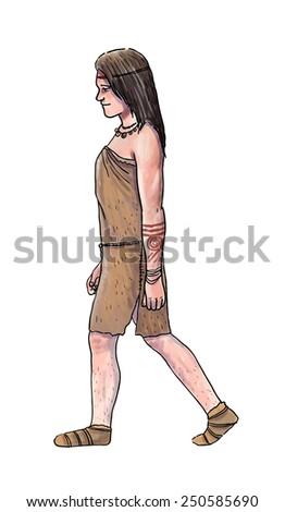 Human evolution digital  illustration,sapiens - stock photo