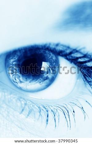 Human Eye - stock photo