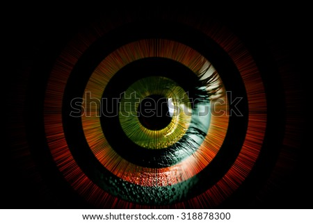 Human eye â?? abstract vision concept - stock photo