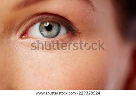 Human eye looking at you