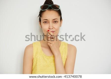 Touching Lips Body Language
