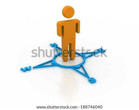 human figure on directional sign