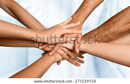 Human Hand, Assistance, Community. - stock photo