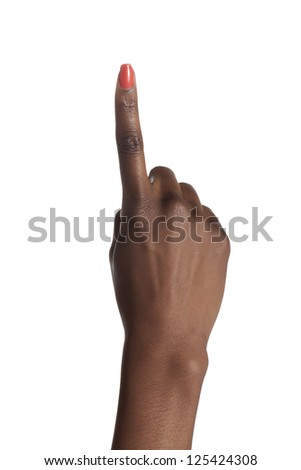 Human hand gesturing number one - stock photo