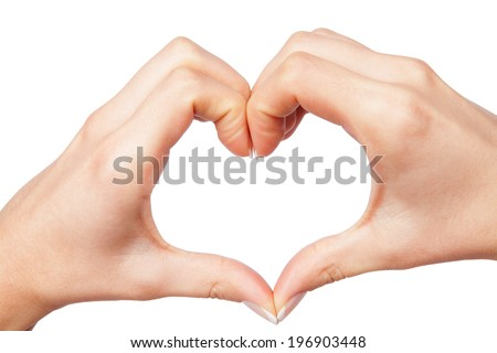 human hand heart - stock photo