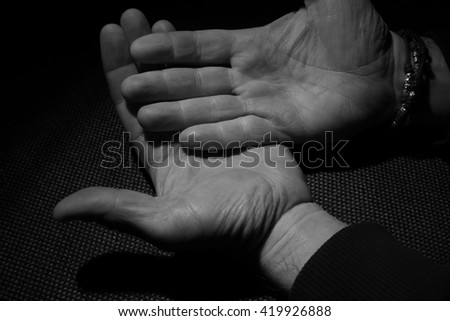 human hand of a man