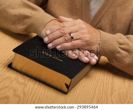 Human Hand, Praying, Senior Adult.