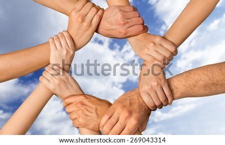 Human Hand. Unite - stock photo