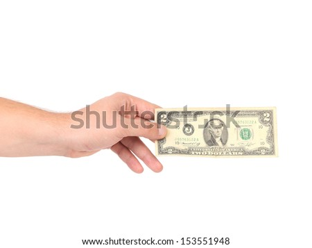 Human hand with money. - stock photo