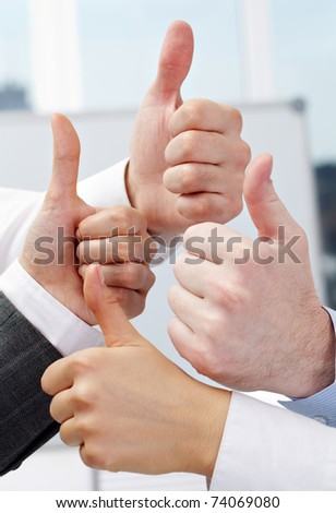 Human hands showing sign of okay - stock photo