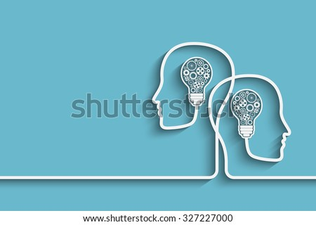 Human heads creating a new idea background.  - stock photo