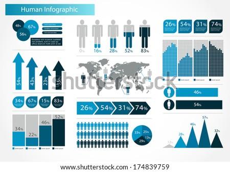 Human infographics set illustration world map stock illustration human infographics set illustration world map and information graphics gumiabroncs Gallery