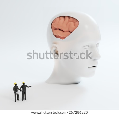 Human intelligence and psychological development concept illustration - stock photo