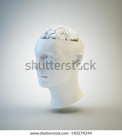 Human Intelligence and psychology concept illustration - stock photo
