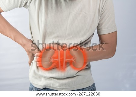 Human kidney failure. - stock photo