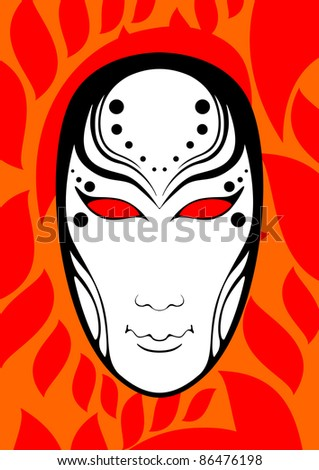 Human masks - stock photo