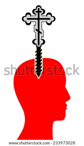 Human mind for religion - - stock photo