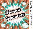 Human Resource HR background  human resources concept - stock vector