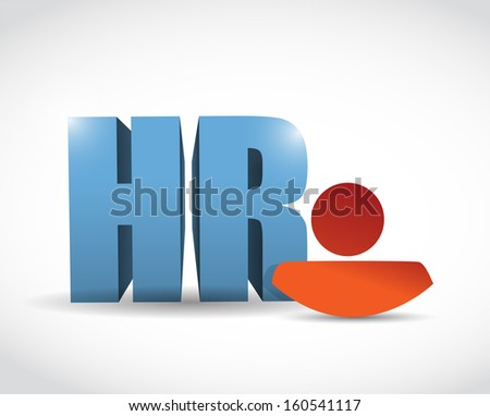 human resource icon illustration design over a white background