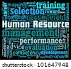 Human Resource in word collage - stock vector