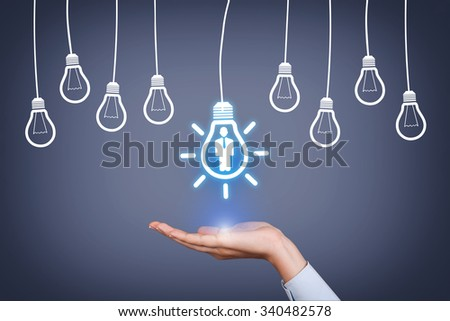 Human Resource New Idea - stock photo