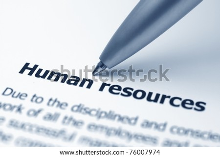 Human resources - stock photo