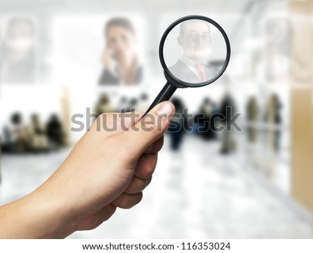 Human Resources concept: Searching the best employee - stock photo