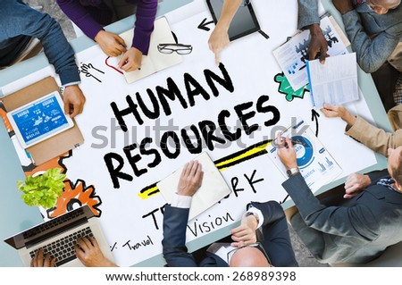 Human Resources Employment Job Recruitment Profession Concept - stock photo
