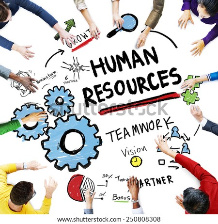 Human Resources Employment Job Teamwork People Meeting Concept - stock photo