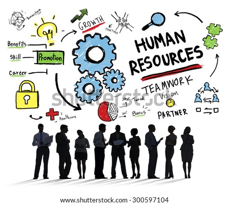 Human Resources Employment Teamwork Business People Communication Concept - stock photo