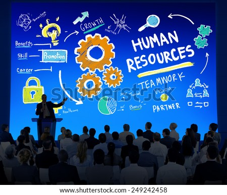 Human Resources Employment Teamwork Business Seminar Conference Concept - stock photo