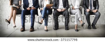 Human Resources Interview Recruitment Job Concept - stock photo