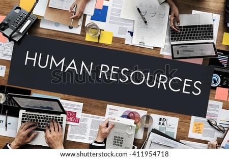 Human Resources Jobs Recruitment Profession Concept - stock photo