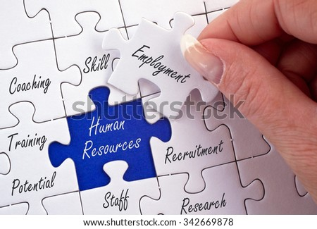 Human Resources - Recruitment and Development - stock photo