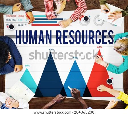 Human Resources Recruitment Employment HR Concept - stock photo