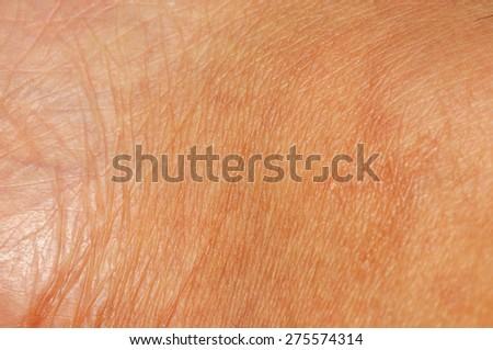 Human skin close up - stock photo