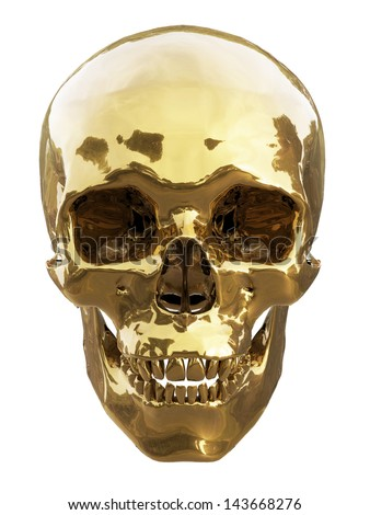human skull made gold isolated stock illustration 143668276 shutterstock. Black Bedroom Furniture Sets. Home Design Ideas