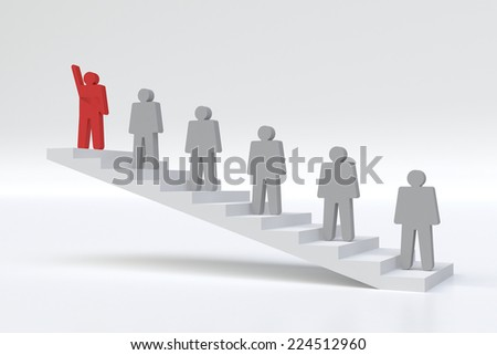 human stand out of the crowd - stock photo