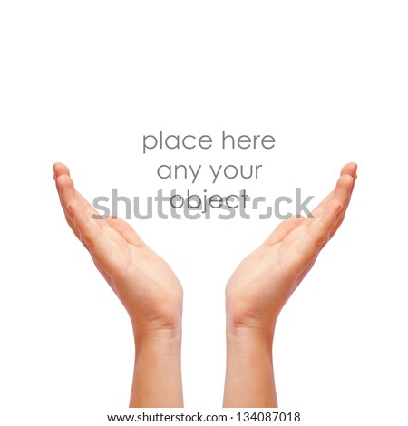 Human supporting hands - stock photo