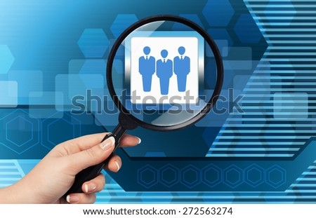 Human, talent, find. - stock photo
