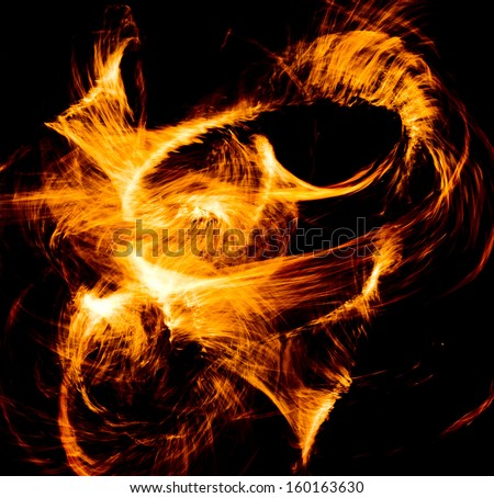 Human Torch Carnival Light  - stock photo