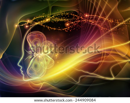 Human Vector series. Backdrop of  human lines and abstract graphic elements to complement your design on the subject of mind, human spirit, poetry, inspiration and philosophy - stock photo