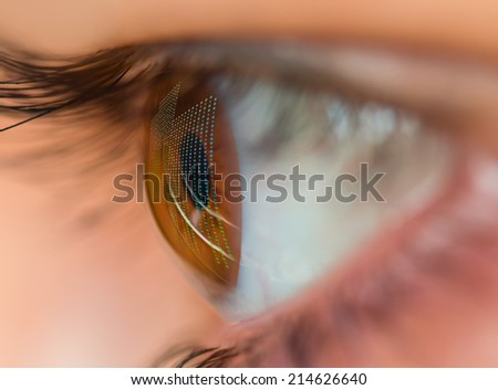 human vision and digital technologies - stock photo