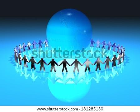 humanity  globalization - stock photo