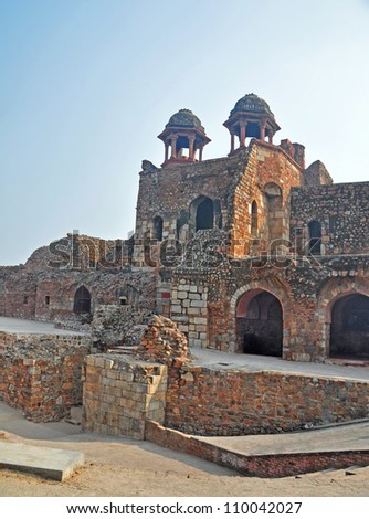 "Humayun Gate at ""Pura Qila"" or Old Fort Delhi India"