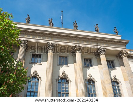 Humboldt University Berlin facade of the main building