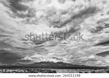 Humidity buildup in sky during monsoon season in Arizona, USA - stock photo