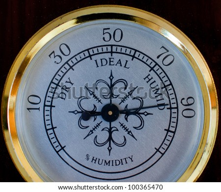 humidity gauge / humidity meter - stock photo
